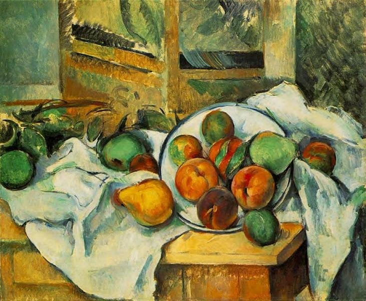 Paul Cezanne Table, Napkin and Fruit (c.1900)