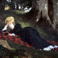 Reading Woman in the Forest
