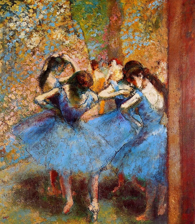 Edgar Degas (French, 1834-1917) - Dancers in Blue