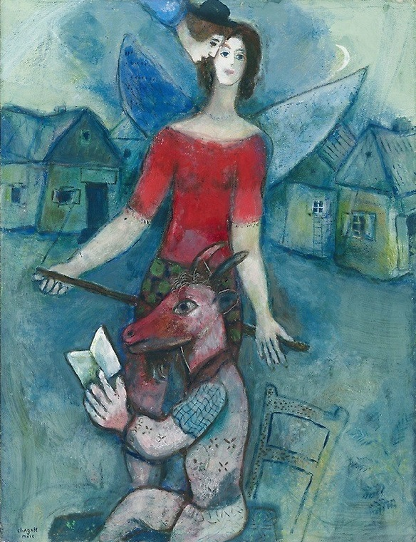 Marc Chagall (French, born Belarus, 1887-1985) - The Angel and the Reader